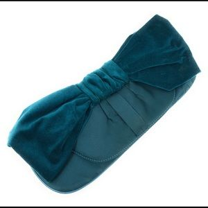 The Limited Satin & Velvet Purse Blue Clutch